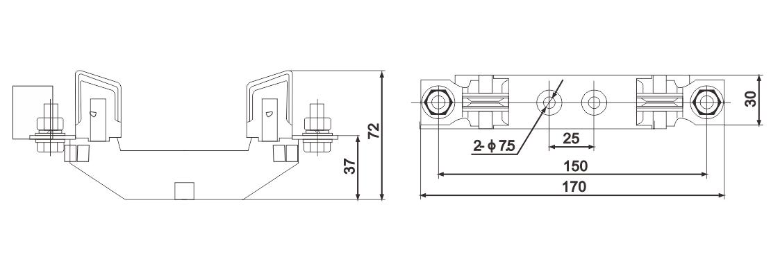 bSGF-NT/NH Series Low Voltage Fuse Bases